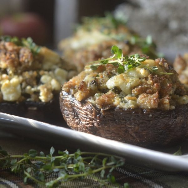 garlic cheese stuffed mushrooms