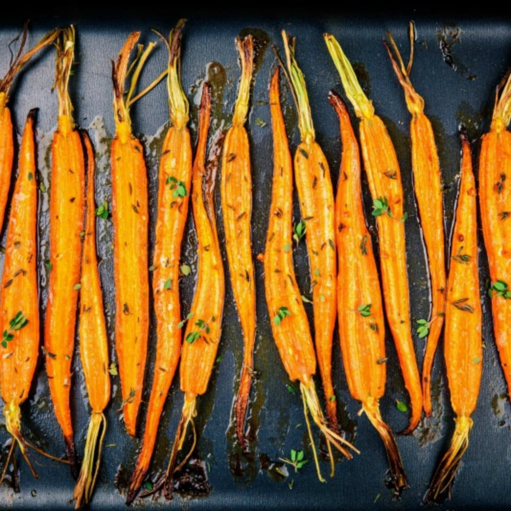 Garlic & Thyme Roast Carrot's