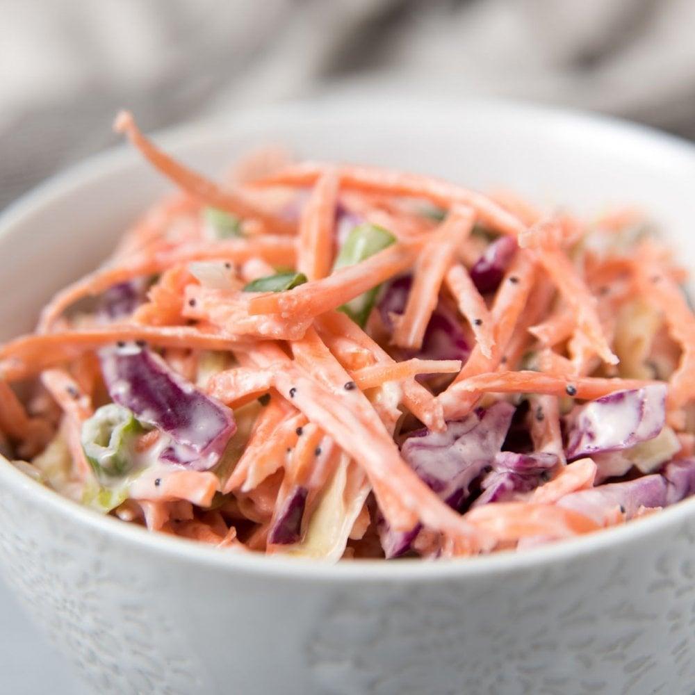 homemade coleslaw bowls