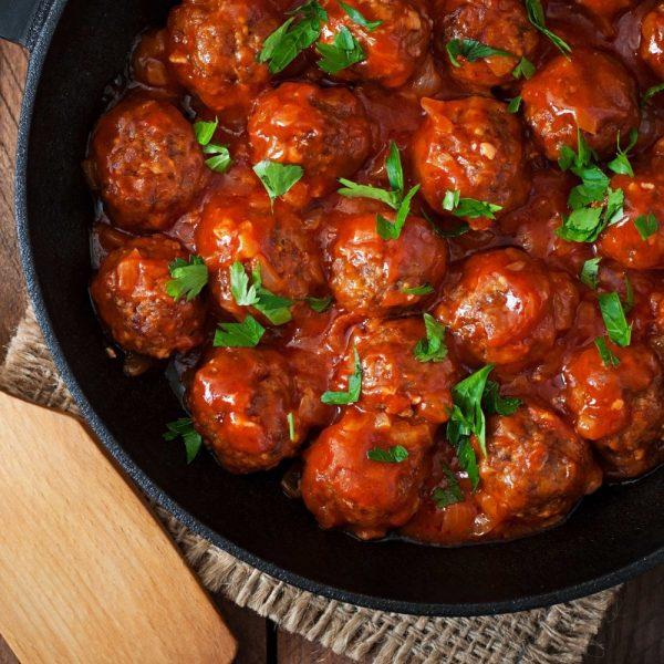 Meatballs in Italian Marinara Sauce