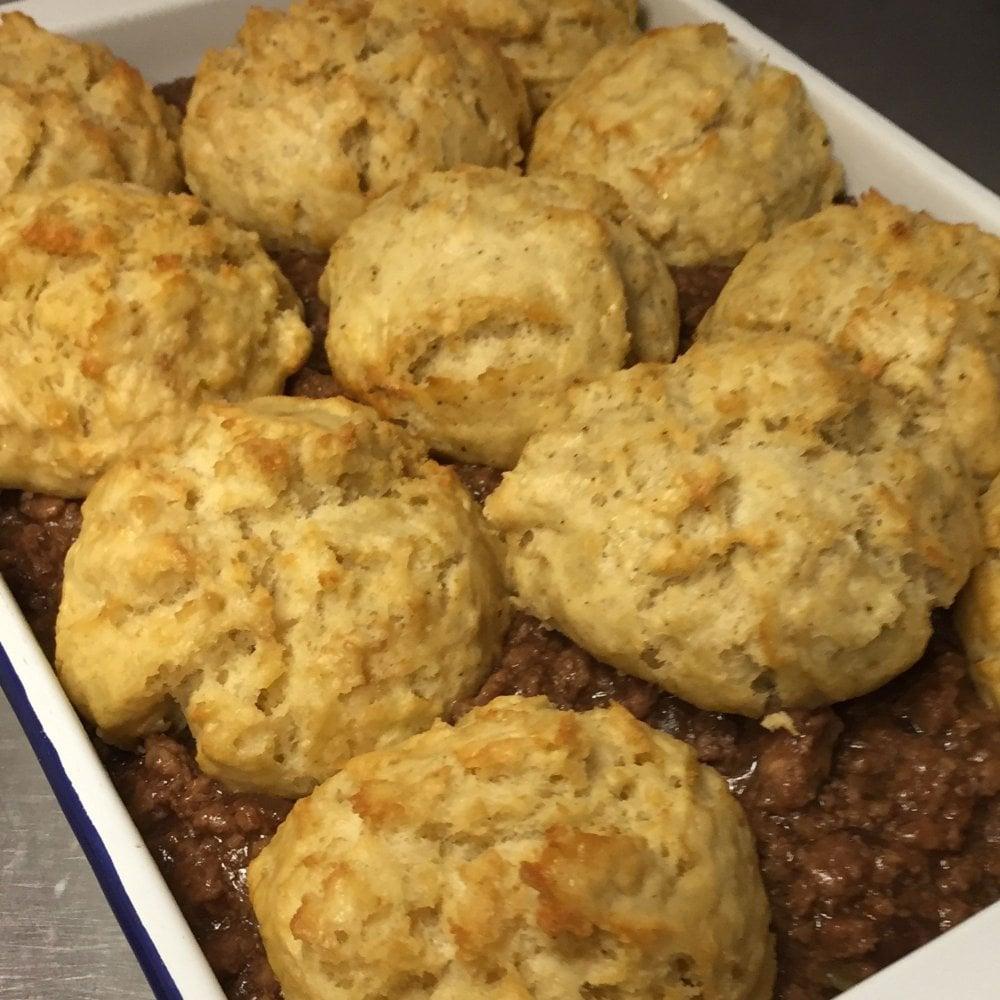 mince dumplings tray bake