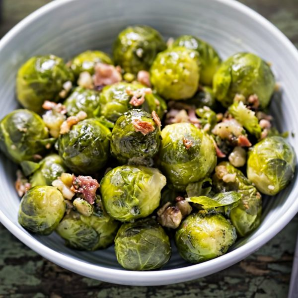 Buttered Brussel Sprouts With Bacon