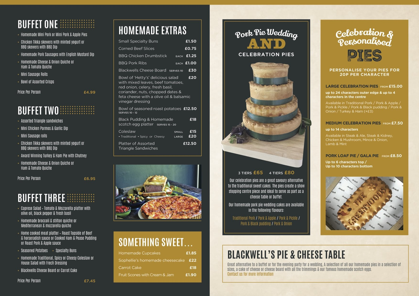 blackwells catering menu